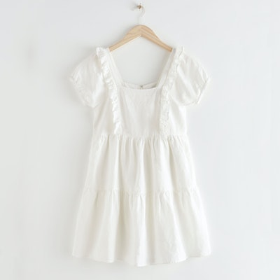 & Other Stories Tiered Ruffle Mini Dress