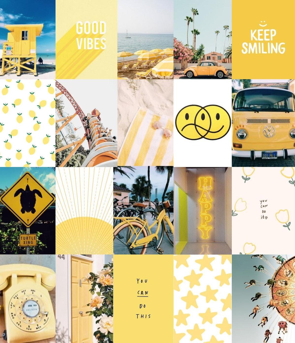 Beach Wall Collage Kit - Digital