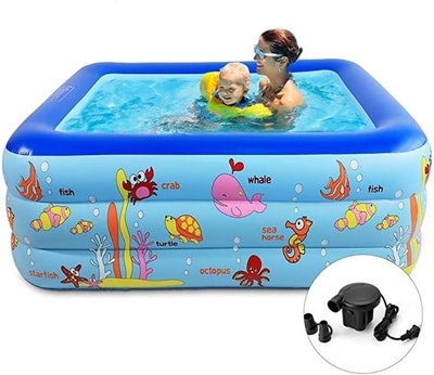 Inflatable Swimming Pool with Pump
