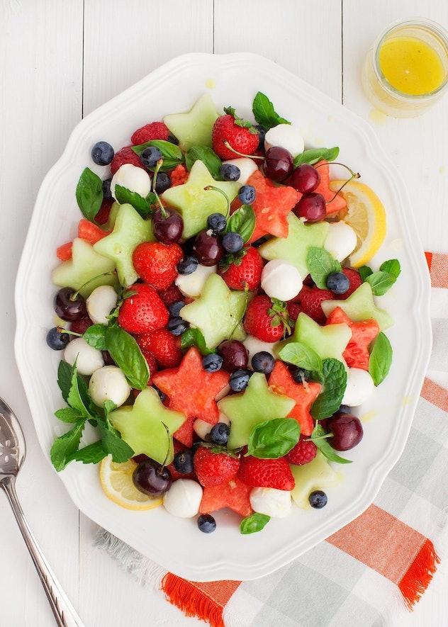 Festive Fruit Salad is an easy summer breakfast idea your kids will love.