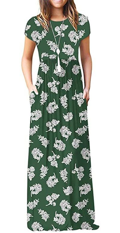 VIISHOW Basic Crewneck Maxi Dress
