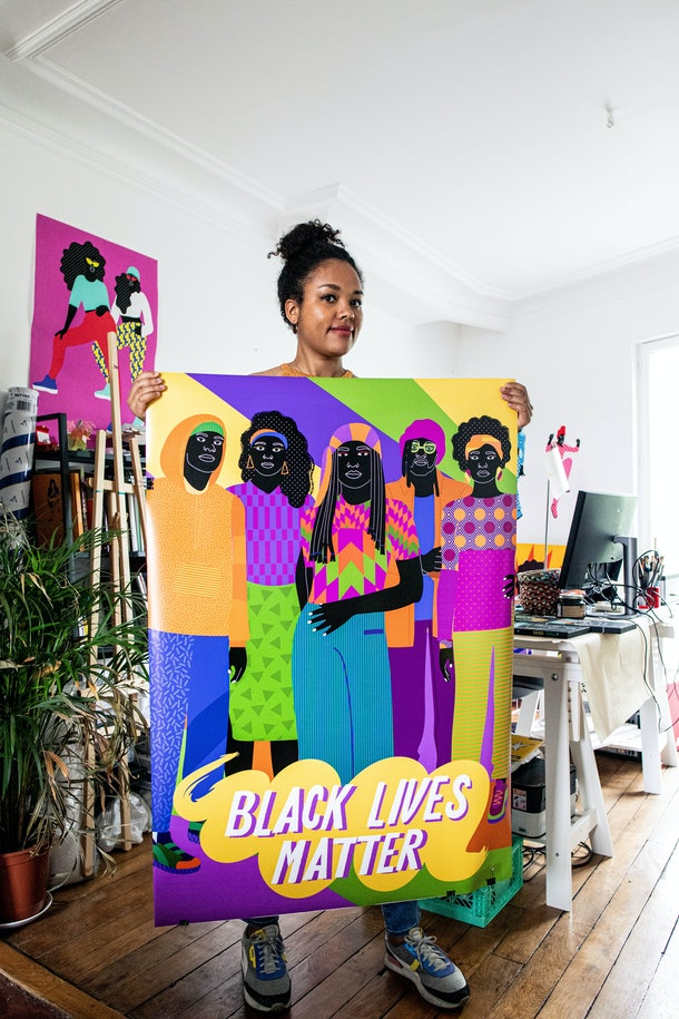 Durand says she likes that her work is influenced by Black Lives Matter and other causes that are important to her.