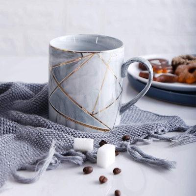 WAVEYU Marble Effect Coffee Mug