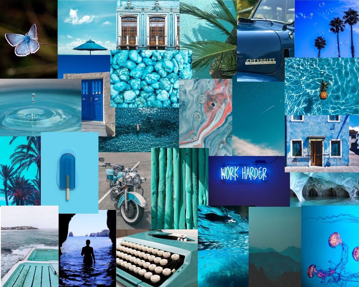 Collage Kit Blue