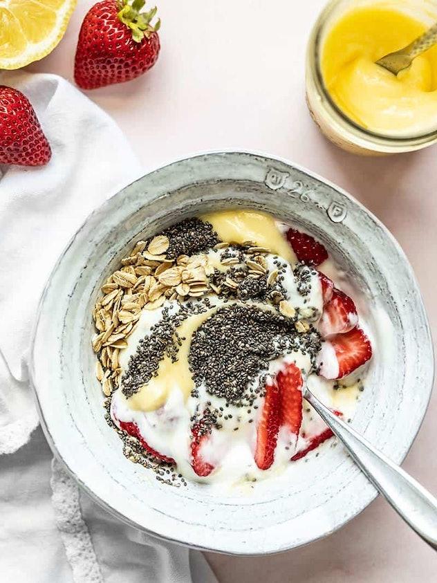 Lemon Berry Yogurt Breakfast Bowls are an easy summer breakfast idea.
