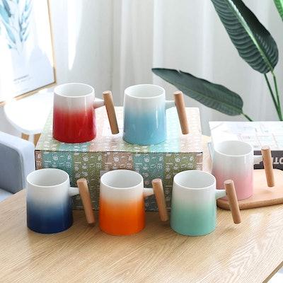 TEANAGOO Porcelain Mugs (6-Piece Set)