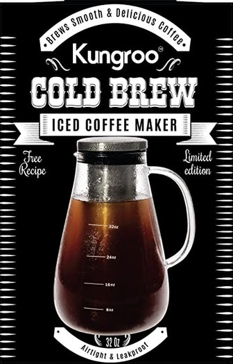 Kungroo Airtight Glass Cold Brew Coffee Maker (32-Ounce)