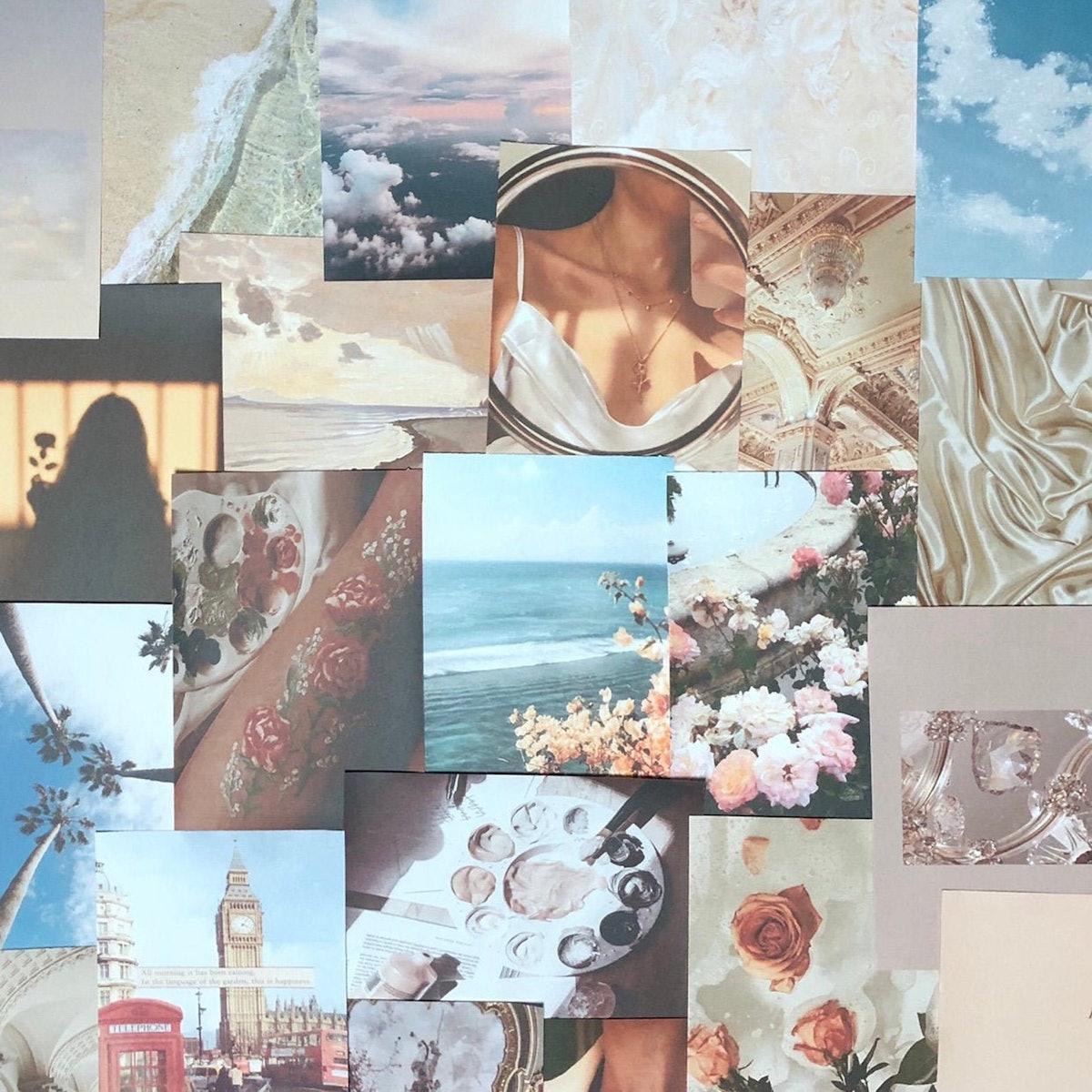 Cloudy Collage Kit - 33 Prints