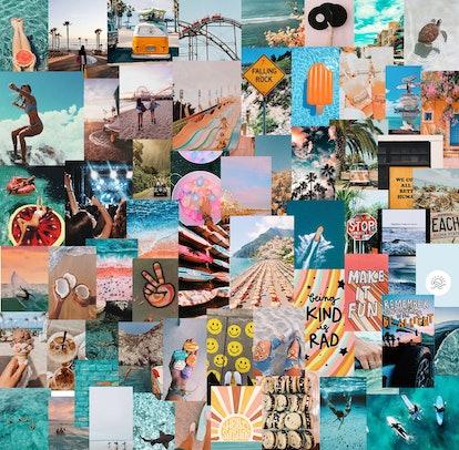 Beachy Summer Boho Wall Collage Kit