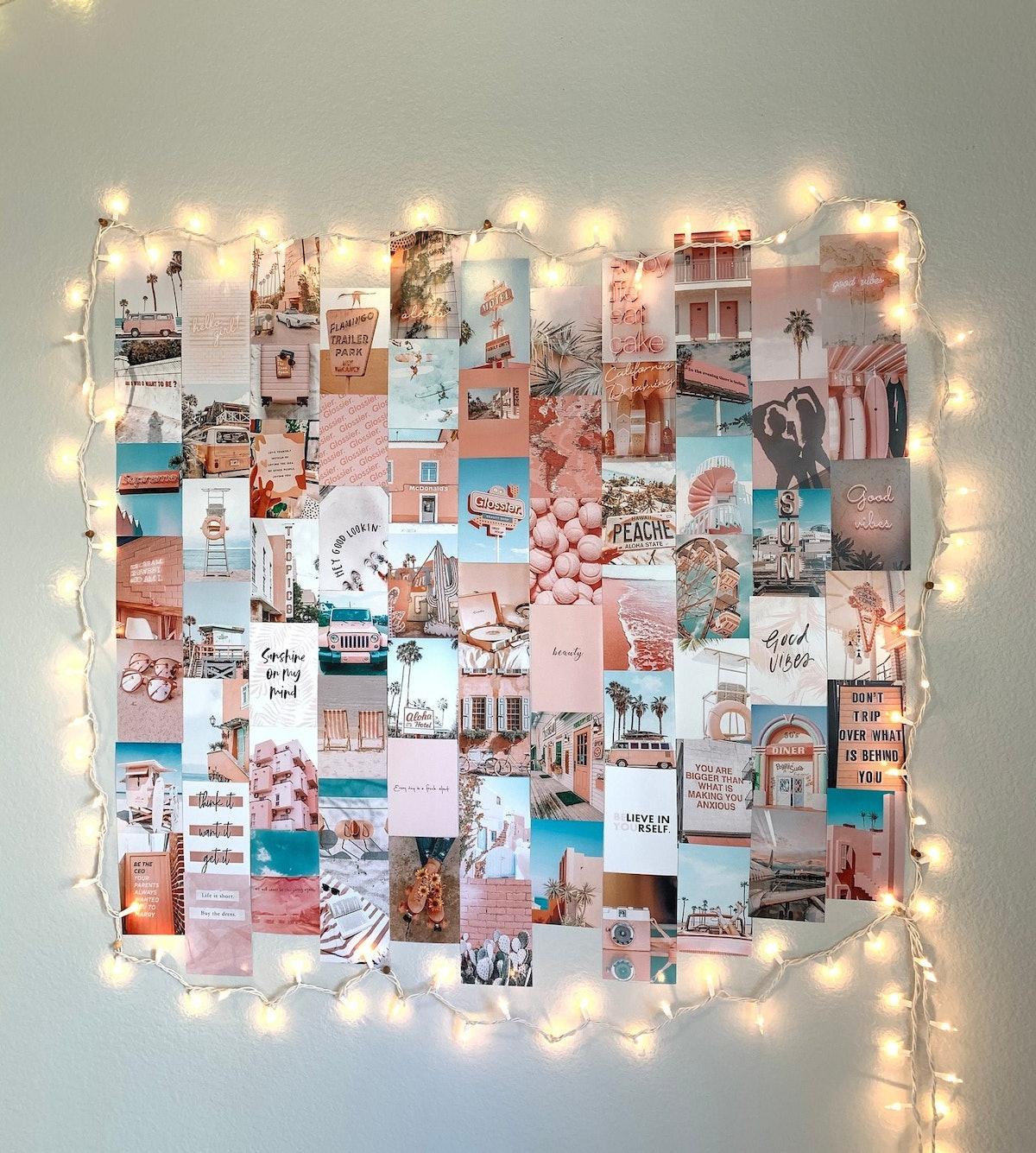 Light Pink Summer Collage Kit Prints