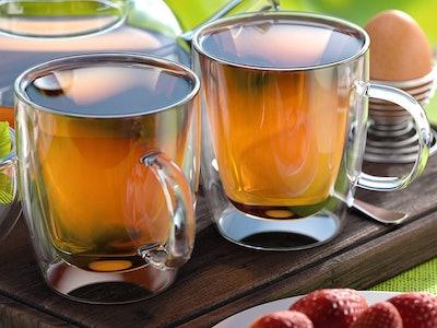 Stone & Mill Glass Coffee Mugs (Set of 2)