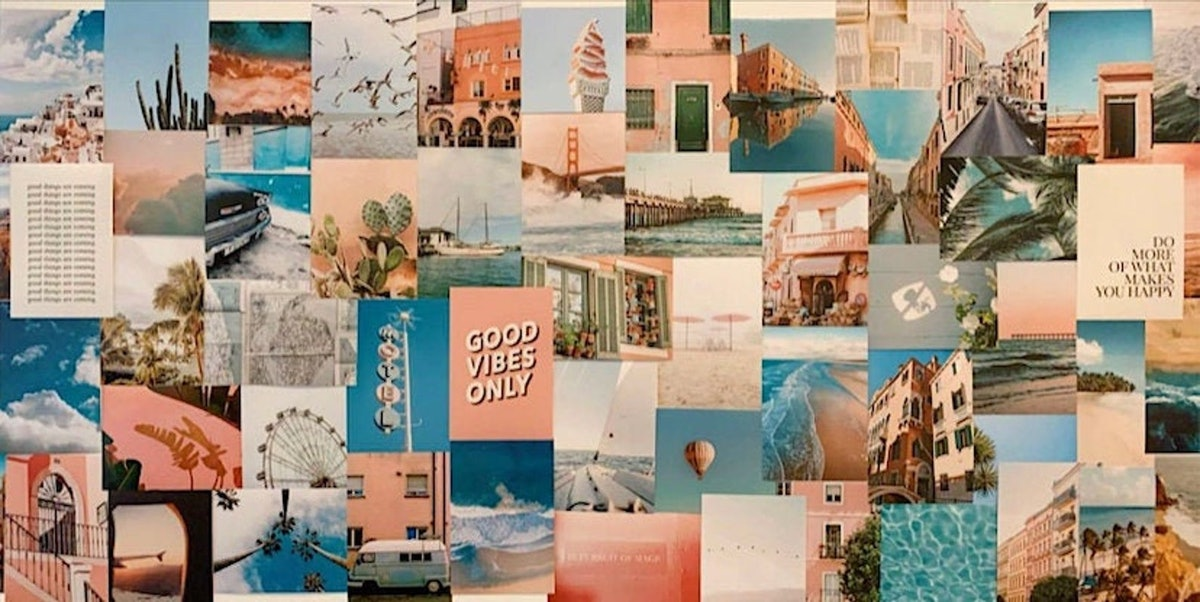 Beach Wall Collage Kit - 60 pc