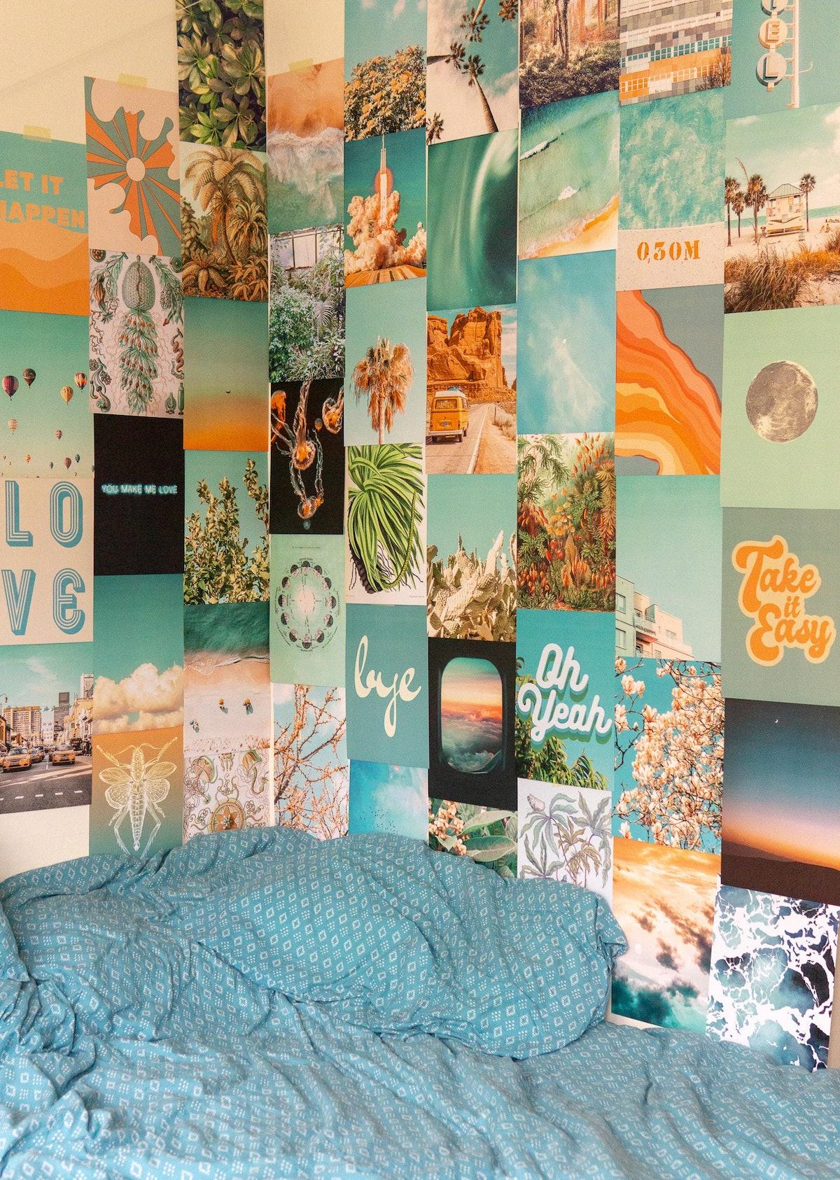Summer Blue Collage Kit