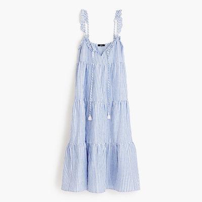 J.Crew Ruffle Tiered Maxi Dress