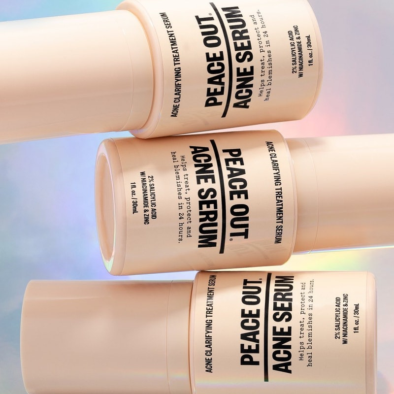 Peace Out Skincare's New Acne Serum helps with maskne