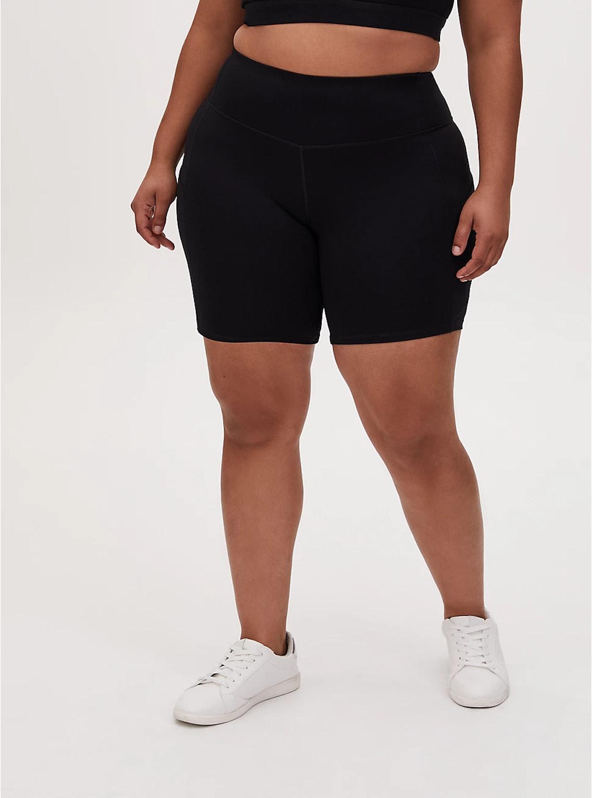 Torrid Black Wicking Active Bike Short With Pockets