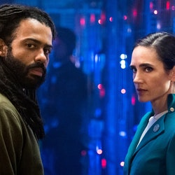 Daveed Diggs and Jennifer Connelly as Layton and Melanie
