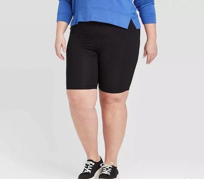 Ava & Viv™ Women's Plus Size Mid-Rise Bike Shorts