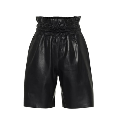 Amata Leather Paperbag Shorts