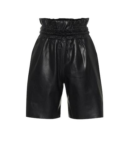 Amata Leather Paperbag Shorts