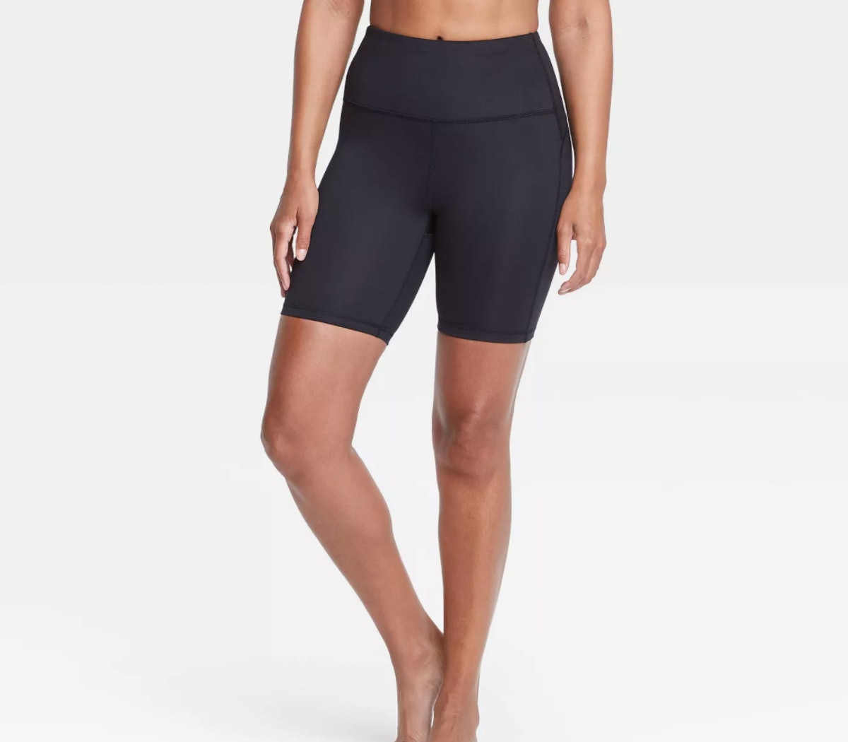 """All in Motion™ Women's Contour Curvy High-Rise Shorts 7"""" - Black"""
