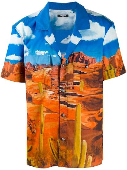 Printed Bowling Shirt