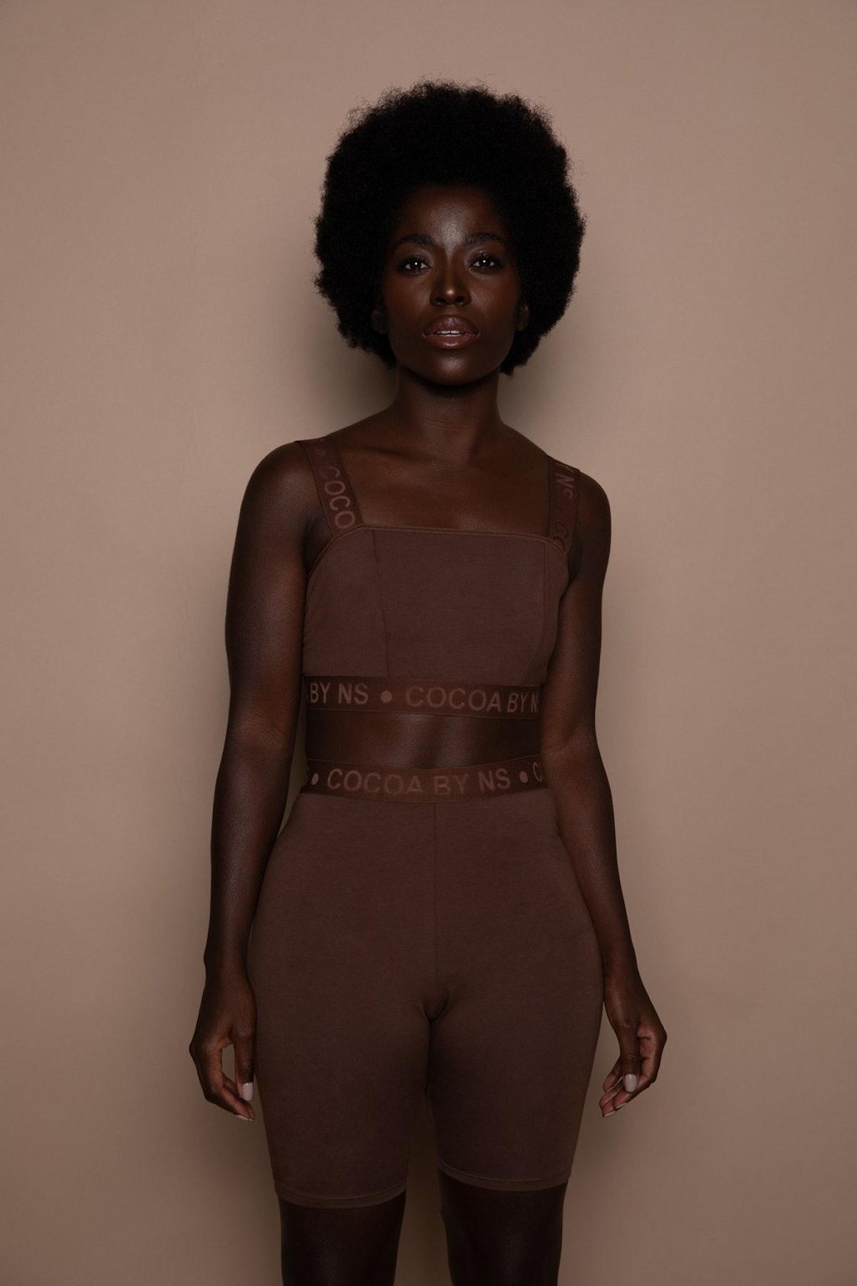 Nubian Skin COCOA by NS Biker Shorts