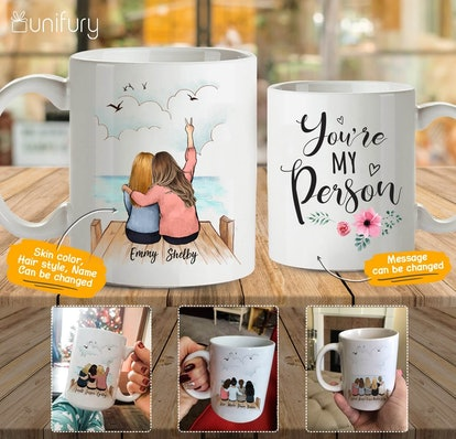 personalized best friends mug