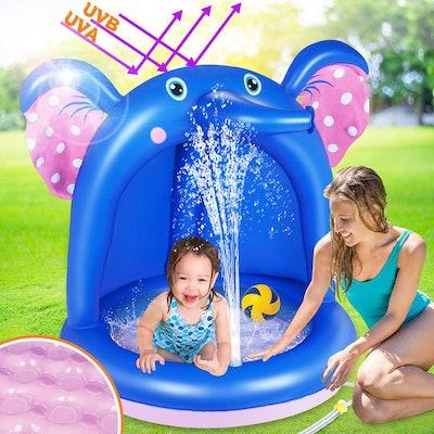 Inflatable Sprinkler Elephant Pool