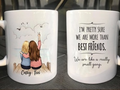 personalized best friend mug