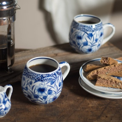 Ten Thousand Villages Hand-Painted Coffee Mug