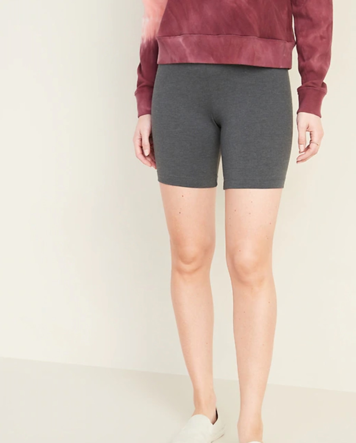 Old Navy Mid-Rise Jersey Biker Shorts for Women