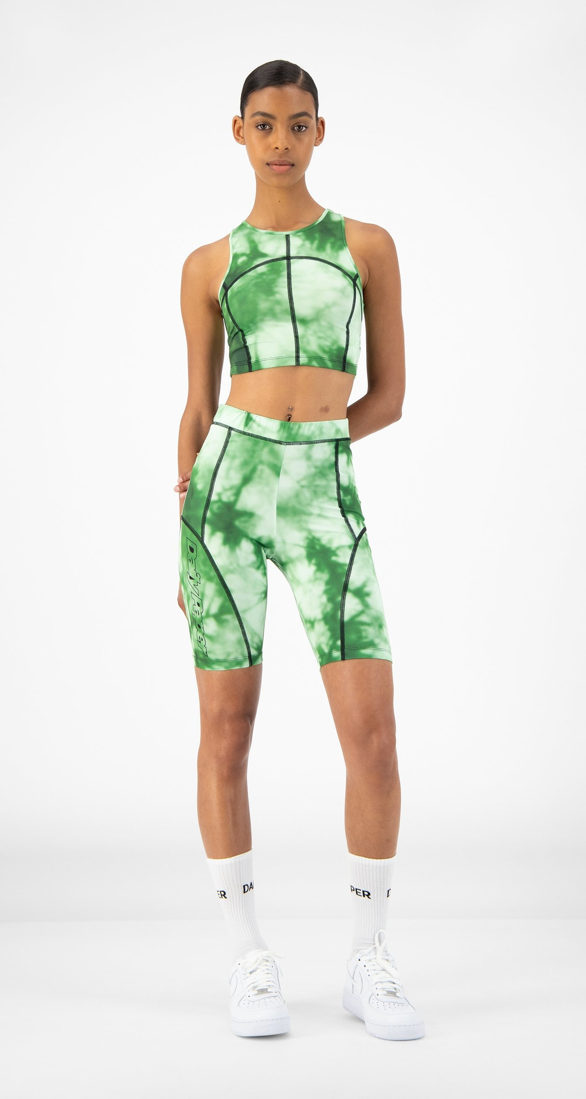 Daily Paper Green Tie Dye Resymetric Vest