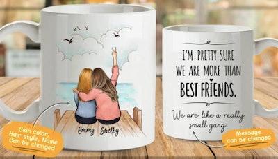 Personalized best friends coffee mug