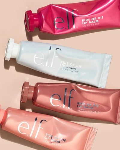 All four new shades of e.l.f. Cosmetics' new Ride or Die Lip Balm.