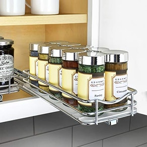 Lynk Professional Slide Out Spice Rack Upper Cabinet Organizer