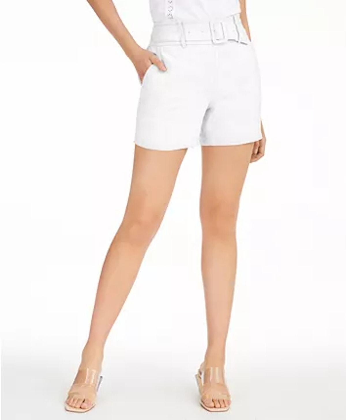 INC Linen Belted Shorts
