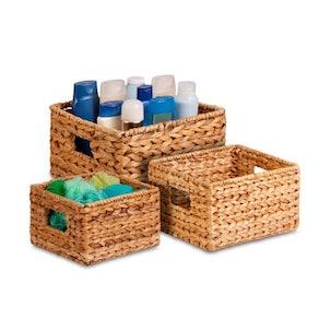 Honey-Can-Do Nesting Banana Leaf Baskets (3-Pack)