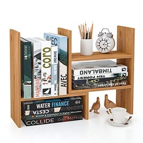 Homfa Bamboo Desk Storage Organizer Adjustable