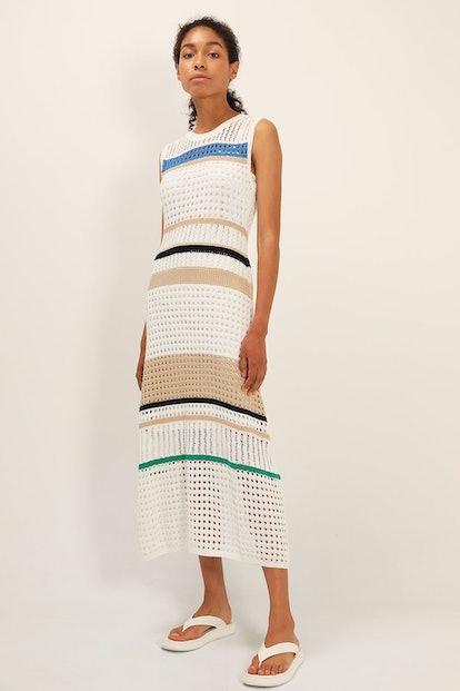 Celine Stripe Knitted Dress