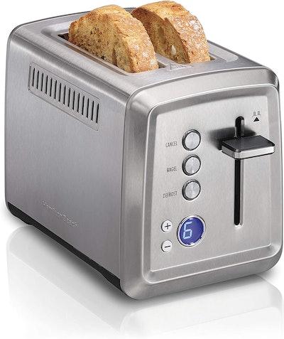 Hamilton Beach Digital Stainless Steel Toaster (7.6 x 6.3 Inches)