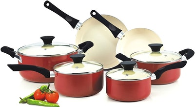 Cook N Home Nonstick Ceramic Coating Cookware Set (10 Pieces)