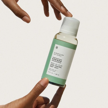 Back-Up Plan Acne-Control Body Mist from Versed's new acne collection.