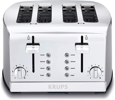 KRUPS Breakfast Set 4-Slot Toaster (13.5 x 13.3 Inches)