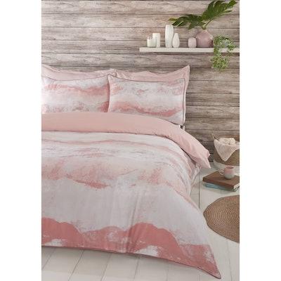 Home & Co Carmen Wave King Duvet Set - Blush