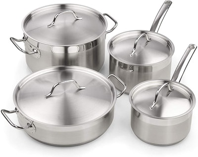 Cooks Standard Professional Stainless Steel Cookware Set (8 Pieces)