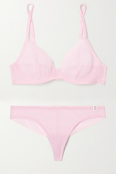 Les Girls Les Boys Stretch-Mesh Underwired Bra and Briefs