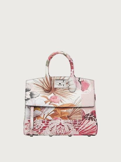 Ferragamo Studio Bag Foulard Print Small