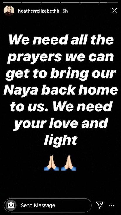 Heather Morris from 'Glee' prays for Naya Rivera