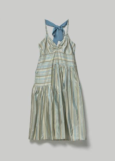 Brea Silk Taffeta Bow Back Dress